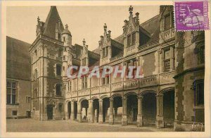 Old Postcard Blois (Loire et Cher) The interior Facade Chateau Louis XII