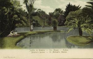 portugal, Azores Acores, SAÕ MIGUEL, Jardim do Botelho, Botanical Garden (1910s)