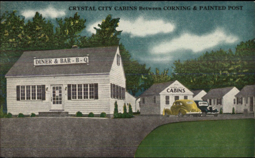 Corning Painted Post NY Route 17 BBQ Diner Bar Crystal City