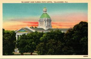 Florida Tallahassee Sunet Over State Capitol Building