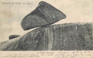 Argentina 1905 postcard Recuerdo de Tandil - La Piedra Movediza
