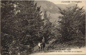CPA Le MONT-DORE-Sur le Chemin du SANCY-Vue prise sur le Capucin (46565)