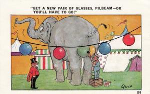 Elephant circus comic; Elephant get backside painted , 30-50s