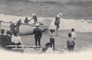 Landing from Fishing Schooner, ASBURY PARK, New Jersey, 1900-10s