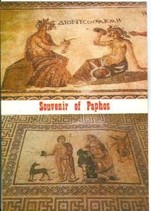 Cyprus, Souvenir of Paphos, the famous ancient mosaic, unused Postcard