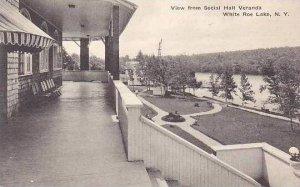 New York View From Social Hall Veranda White Roe Lake Albertype