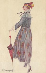 BOMPARD ; Art Deco Female Portrait  , 1910s #5