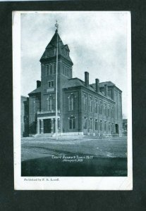 NH Court House Town Hall Newport New Hampshire Postcard Vintage 1908
