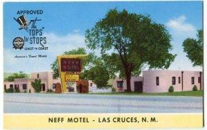 020612 NEFF MOTEL LAS CRUCES NM NEW MEXICO VINTAGE ROADSIDE POSTCARD