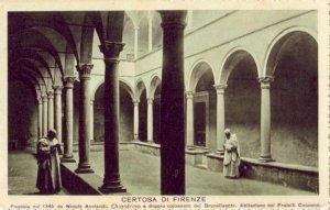 FIRENZE, ITALY CERTOSA CHIOSTRINO INNER COURT