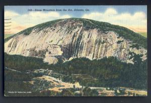 Beautiful Stone Mountain, Georgia, GA Postcard, From The Air