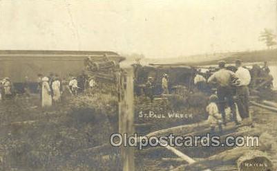 ST Paul Wreck, USA Train Railroad Station Depot Post Card Post Card  ST Paul ...