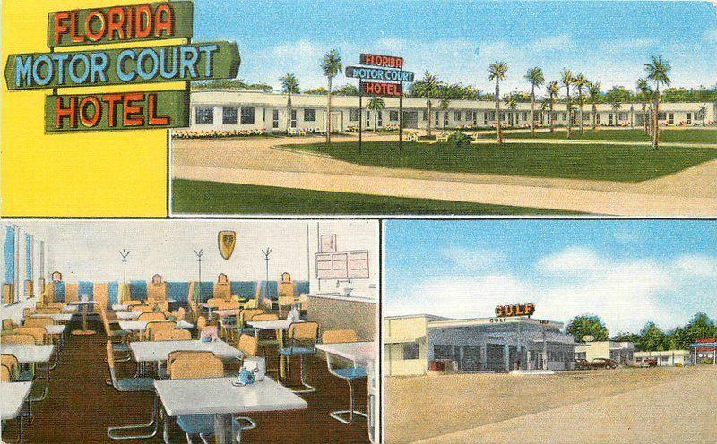 1940s Florida Motor Court Hotel Tallahassee Florida roadside Kropp 1663