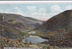 Franconia Notch From Artists Bluff White Mountains New Hampshrie