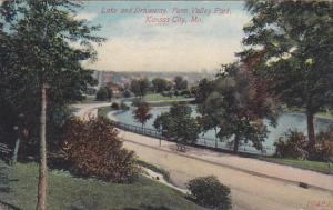 Missouri Kansas City Lake And Driveway Penn Valley Park 1915