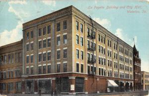 Waterloo Iowa La Fayette Building City Hall Antique Postcard K93880