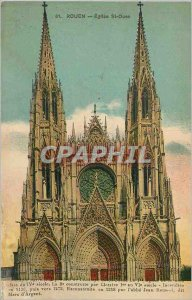 Old Postcard Rouen Church St Ouen