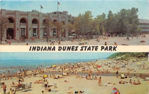 Indiana Dunes State Park~Pavilion & Waverly Beach~near Chesterton~1967 Postcard