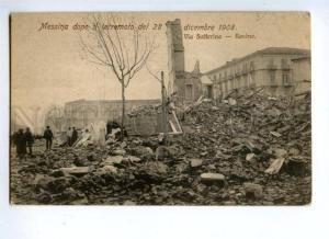 144532 ITALY MESSINA 1908 earthquake Via Solferino Vintage PC