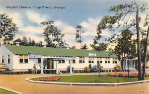 Military Post Card Hospital Entrance at Camp Stewart Georgia USA Unused