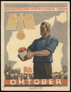 3rd Reich Germany 1938 Winterhilfswerk WHW Winter Charities Donation Plaka 77111