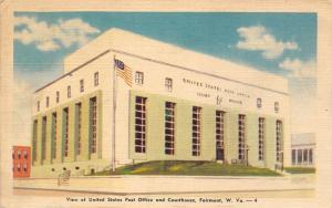 Fairmont West Virginia~US Post Office~Federal Court House~Lime & White ART DECO
