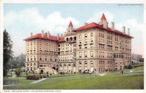 Antlers Hotel Colorado Springs Colorado 1910c Phostint postcard