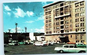1962 Mallory Motor Hotel Portland Oregon 1950s Chevy Pontiac Vintage Postcard A6