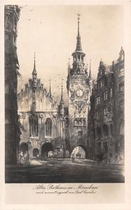 Altes Rathaus in Muenchen Town Hall Gate Tower Clock
