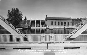 Glennie Michigan~Five Channel's Dam From the Bridge~Postcard RPPC 1940s