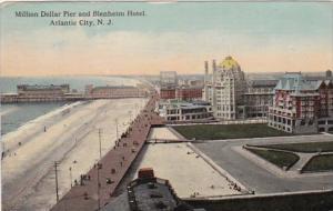 New Jersey Atlantic City Million Dollar Pier and Blenheim Hotel 1912
