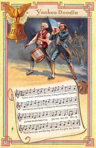 Embossed Yankee Doodle 1911 Music Patriotic Postcard