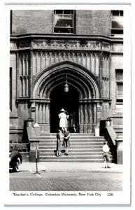 1946 RPPC Teacher's College, Columbia University, New York City Postcard