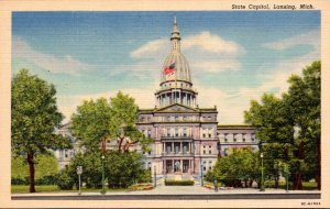 Michigan Lansing State Capitol Building Curteich