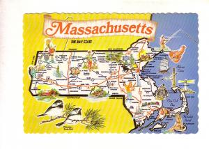 Massachusetts, Pictorial Map, The Bay State