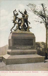 Illinois Chicago Monument Of Foot Dearborn Massacre