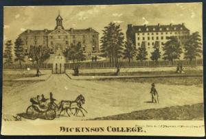 Postcard Unused Dickinson College in 1870 Carlisle PA LB