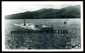 1181 - JASPER IN QUEBEC 1955 Lake Water Sport. Boating. Real Photo Postcard