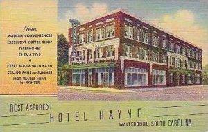 South Carolina Walterboro Hotel Hayne Curteich