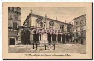 Italia - Italy - Italy - Verona - Piazza dei Signori - Old Postcard