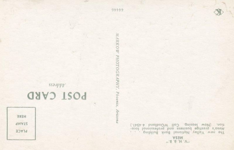MESA , Arizona , 1950-60s ; Valley National Bank