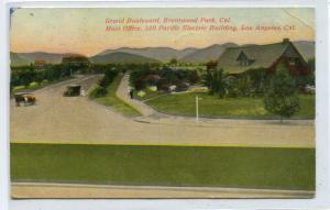 Grand Boulevard Brentwood Park Los Angeles California 1911 postcard