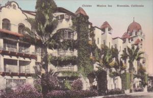 California Riverside The Cloister Mission Inn Handcolored Albertype