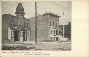 Brooklyn NY Eagle Series - Flatbush Fire House Station c1905 Postcard