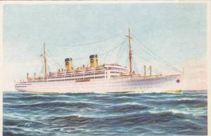 Home Lines' Ocean Liner m/s ITALIA , 30-40s
