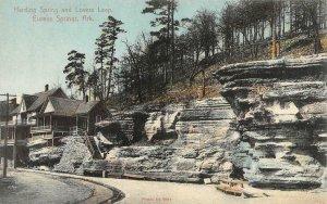 EUREKA SPRINGS, AR Arkansas  HARDING SPRING & LOVERS LEAP  c1910's Postcard