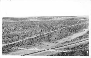Rogers City Michigan Limestone & Chemical Company~Railroad Tracks~1950s RPPC