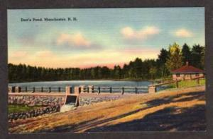 NH View Dorr's Pond MANCHESTER NEW HAMPSHIRE Postcard
