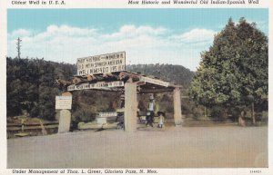 GLORIETA PASS, New Mexico, 1930-1940's; Old Indian-Spanish Well, Oldes Well I...