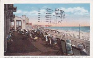 New Jersey Atlantic City Boardwalk From Marborough Blenheim Sun Deck Marlboro...